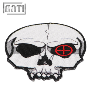 Embroidery Patches Custom Embroidered Patches for Clothing Skull Embroidery Pattern