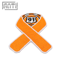 Colorful Number 91 Embroidery Patches Custom Embroidered Patches for Clothing