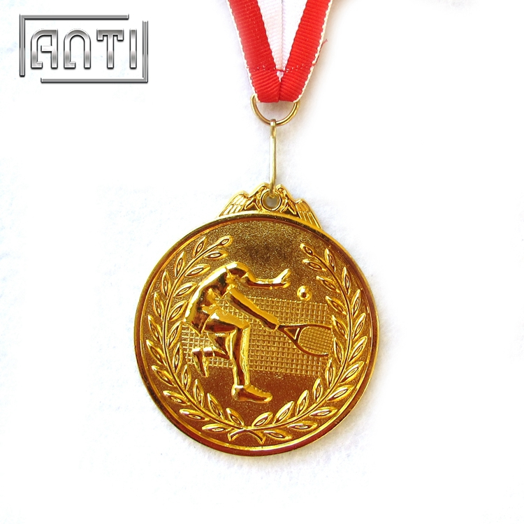 New Designed Gold Sport Medal Silver Medal Gold Medal for Tennis Match