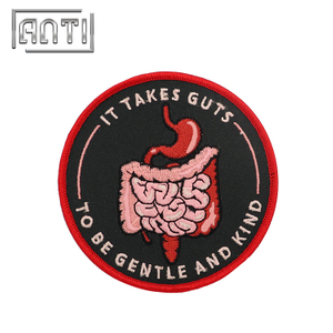 Round Embroidered Patches Cartoon Embroidery Patch for Coats Guts Patch