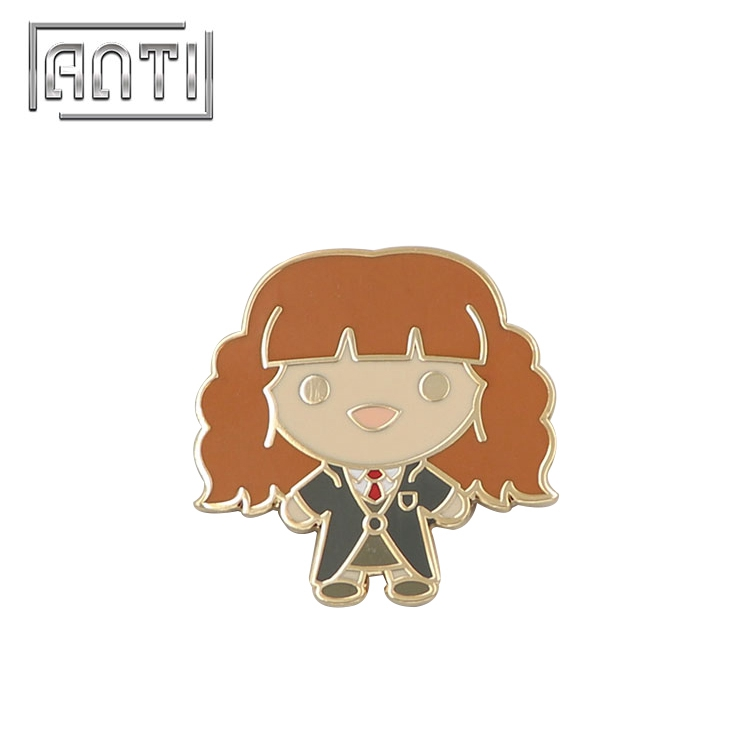 Cartoon School Girl Badge Enamel Pins Cute Lapel Pin