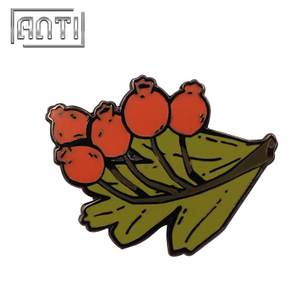 High Quality Plant Enamel Badge Nickle Lapel Pins Brooch