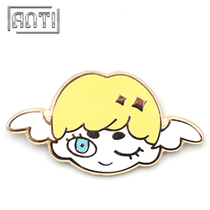 Mew cute yellow cherub zinc alloy hard enamel pin