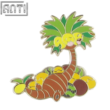 Collection cartoon Cute Green and yellow funny botany tree hard enamel zinc alloy Lapel Pin