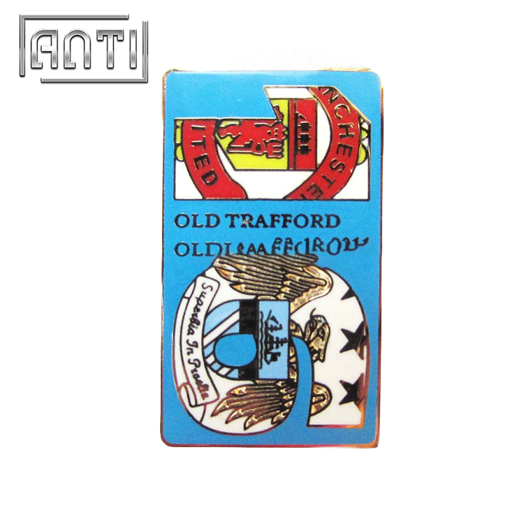 figure 16 blue foursquare lion hard enamel metal badge