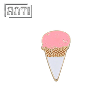 cute icecream zinc alloy hard enamel pin