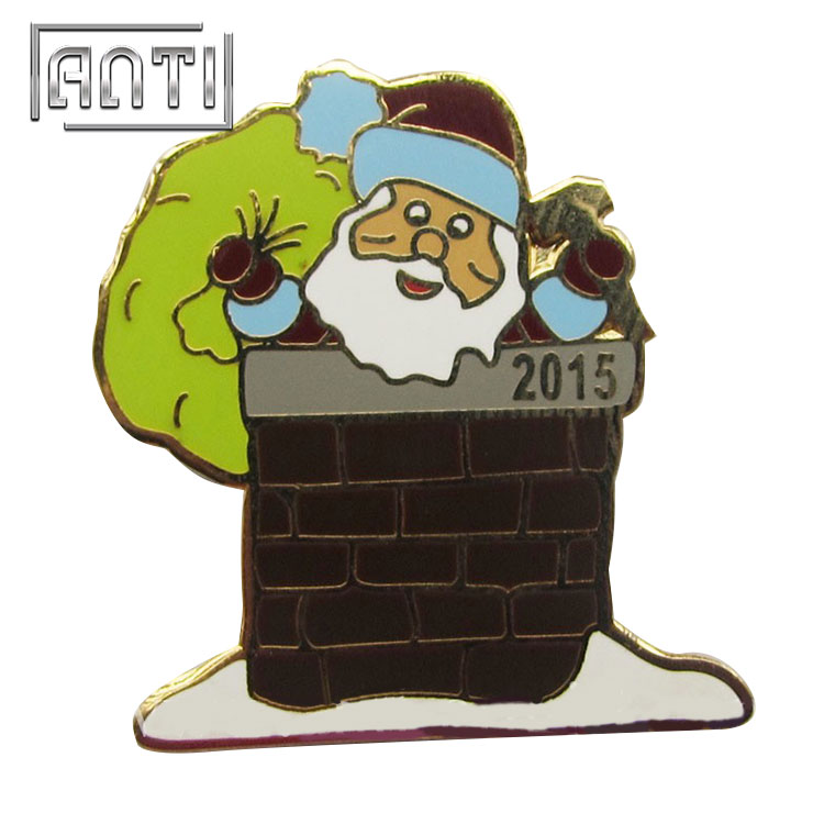 Father Christmas hard enamel metal badge