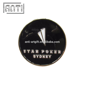 black and white circle soft enamel badge