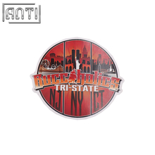 PVC texture cool red and black fine view stickers