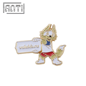 white rabbit leller soft enamel metal badge
