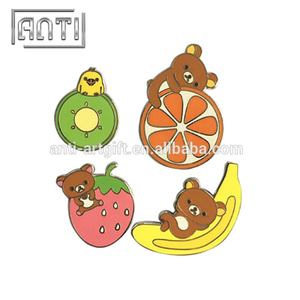 colours fruits and bear zinc alloy hard enamel pin