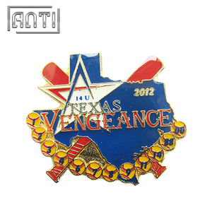 Baseball Logo Lapel Pin TEXAS Logo Badge