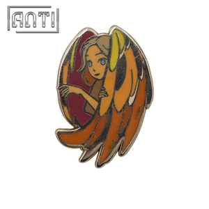 Beauty angel enamel design pins