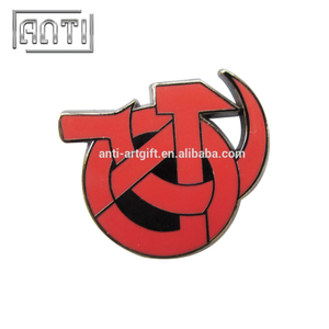 red mark soft enamel metal badge