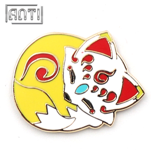 Mew yellow cool cute fox metal badge