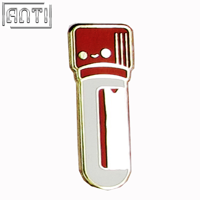 Manufacturer Wholesale French collection red and white Cartoon Cute hard enamel zinc alloy lapel pin