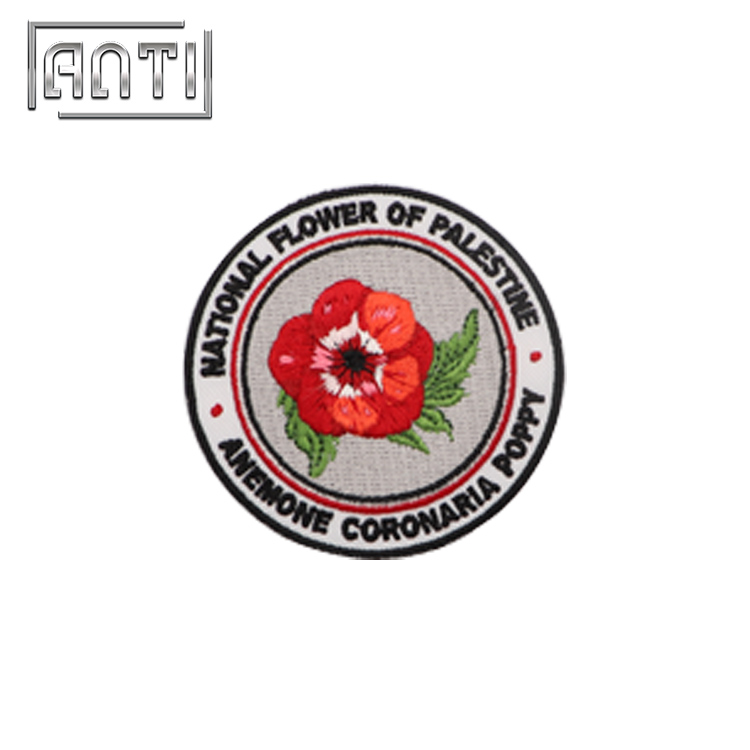 Rose Embroidery Patch Flower for Jackets